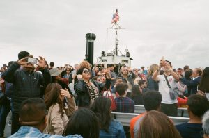 10. Statue of liberty - Paolo Testa - i was bringing my parents to see the statue of liberty, as soon as the boat approached it everyone stood up, took their phone and started shooting. what it means to experience life trough a screen and how are we creating memories of our life?